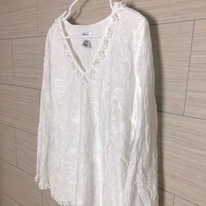 Lilly Pulitzer Embellished Beaded Blouse